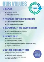 northumbria nhs trust our values our values