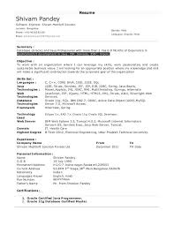 Sample Experienced Resume Software Engineer Resume Months Experience
