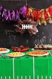 office party decoration ideas. Super Bowl Party At The Pear Tree Office - Fun Food Ideas #football #superbowl Decoration O