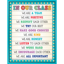 Preschool Class Rules Chart Tcr7528 Marquee In Our Class Chart Image Classroom