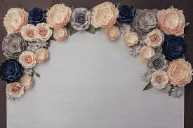 Paper Flower Backdrop Rental Designs Paper Flowers Paper Flower Backdrops Wedding Event