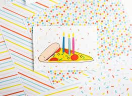 Pizza Printable Birthday Card Design Eat Repeat
