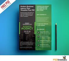 010 Free Template Flyer Design Psd Modern Business Agency