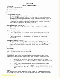 Simple Statement Of Work Template Basiccope Of Work Templateimple Documentample Examples For