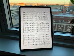 Best Tablet For Reading Music Charts The Best Ipad Score Reader For Most People Scoring Notes