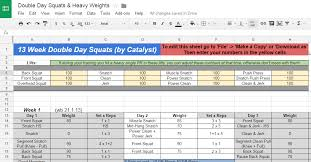 Weight Lifting Templates Weight Lifting Spreadsheet Spring Tides Org