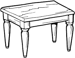 table clipart black and white. pin table clipart coloring page #13 black and white k