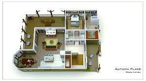 small cottage floor plan rendering autum place