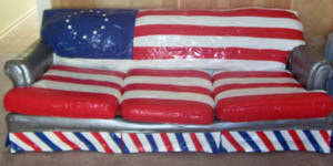 duct tape furniture. Patriotic Couch Ala Duct Tape This Is What My Brother, A Good Friend And I Did On Our July 4th Afternoon To Add Some Spunk The Living Room. Furniture