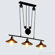 industrial pulley light newest retro industrial pulley pendant lamp retractable lifting ceiling light decorative pendant lighting