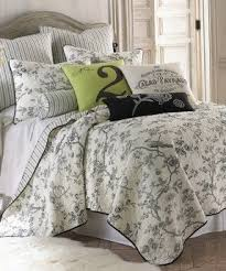 Toile Quilt Set - Foter & Brown and white toile bedding Adamdwight.com