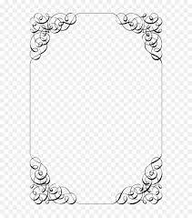 Wedding Template Microsoft Word Border Design Black And White
