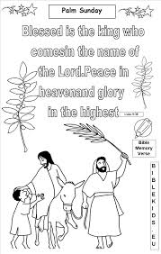 42 Palm Sunday Coloring Pages Jesus Rode A Donkey Pass Through Palm