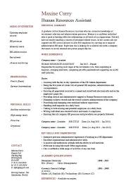 Human Resources Assistant Resume Examples Classy Human Resources Assistant Resume HR Example Sample Employment