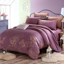 old world bedding mauve taupe flower print scroll pattern shabby chic western style organic cotton full