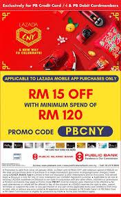 public bank credit card promotion lazada cny 2019