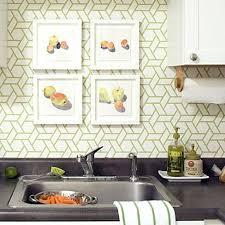 kitchen wallpaper beautiful kitchen with geometric wallpaper kitchen wallpaper ideas bq