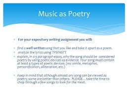 bellwork th ppt 5 music as poetry for your expository
