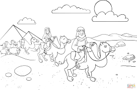 Abram Sarai Leaving Egypt Coloring Page Free Printable