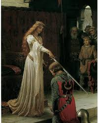 edmund blair leighton poster featuring the painting the accolade by edmund blair leighton