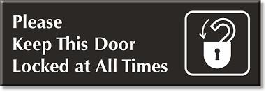 please lock door. Zoom, Price, Buy Please Lock Door R
