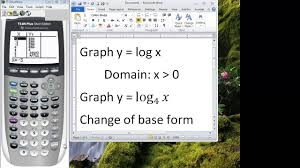 ti 84 tutorial graphing logarithmic functions