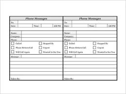 10 Phone Log Templates Word Excel Pdf Formats