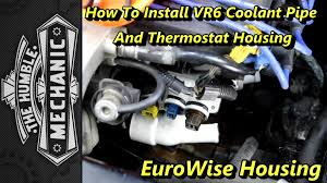 vr6 coolant pipe and thermostat housing diy
