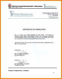 Resume Responsibilities Ojt Certificate Sample Format Resume