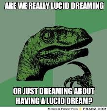 are we really lucid dreaming... - Philosoraptor Meme Generator ... via Relatably.com
