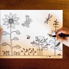 Tell your child to draw a background like a castle or a forest to go with the picture. A Vegetable Garden Kids Coloring Sheet