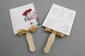 Wedding Program Fans Cheap Free Wedding Program Templates You Can Customize