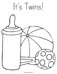 Small Picture Twins Coloring Pages Coloring Coloring Pages
