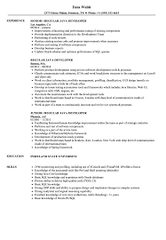 Java Developer Resume Example Regular Java Developer Resume Samples Velvet Jobs 9