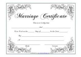 Wedding Ceremony Certificate Template Marriage Certificate Marriage