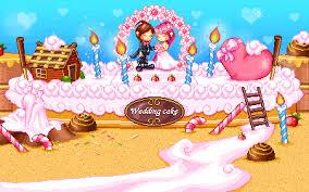 Cute Couple With Wedding Cake