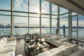 modern sunroom designs. Exellent Designs Trendy White Fabric Sectional Sofas And Square Table With Opened Glass  Floor To Ceiling Windows As Modern Sunroom Designs Inside