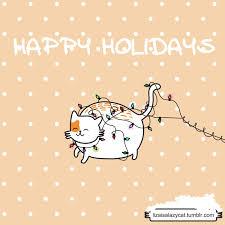 happy holidays gif tumblr. Perfect Gif Happy Holidays Christmas Cat GIF On Gif Tumblr Giphy