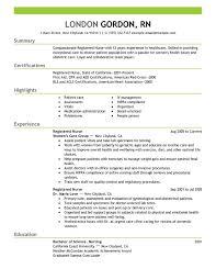 Registered Nurse healthcare Resume Sample summary highlights