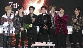 Info Got7 Won World K Pop Star Award On 7th Gaon Chart