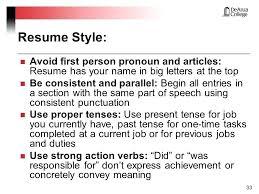 past or present tense in resume resume present tense action verbs resume