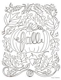 adult coloring pages fall | Just Colorings