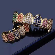 Grillz Designs Miss Jewelry Hip Hop Latest Cz Paved Zircon Denti Grillz