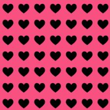 Hot Pink Black Heart Background Hot Pink Black Heart Background Image