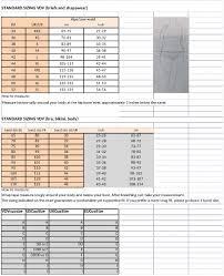 Prima Donna Size Chart 2019