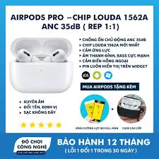 Tai Nghe Bluetooth Airpods Pro Chip Louda 1562A Chống Ồn ANC 35db - Xuyên  Âm - Cảm Biến Lực - Full Option