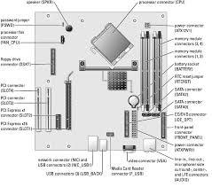technical overview dell dimension e service manual system board components