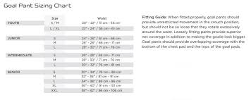 Goalie Pants Sizing Chart Amazon Com Powertek V5 0 Barikad Ice Hockey Goalie