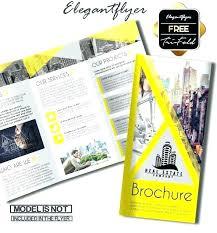 Free Two Fold Brochure Template Bi Fold Brochure Template Free Two Templates Half Pamphlet Tri