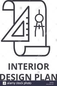 Icon For Interior Design Interior Design Plan Vector Line Icon Sign Illustration On